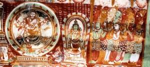 Chidambaram Nataraja temple, ancient painting in Goddess Temple