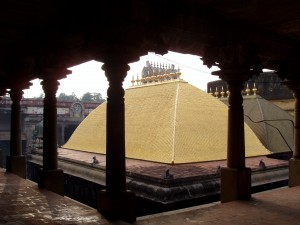 In the Chidambaram temple the central sanctum is the Chit Sabha, the Hall of Consciousness