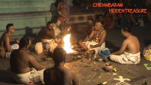 Yajna, vedic fire sacrificed perofmed by the Chidambaram Deekshithar's.