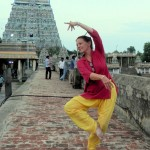 Liesbeth Pankaja dancing in the Chidambaram Nataraja temple