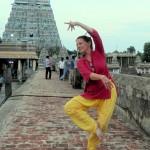 Liesbeth Pankaja dancing in the Chidambaram Nataraja temple