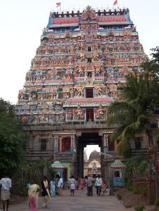 Gopuram or gateway, Chidambaram Nataraja Temple