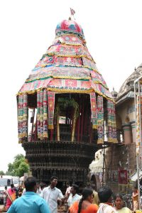 The chariot for the Nataraja, Ani Thirumanjanam in Chidambaram temple
