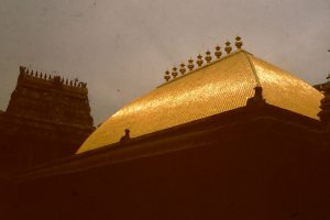 The Golden Roof of the Chit Sabha of the Nataraa temple in Chidambaram