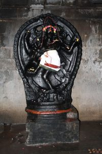 stone nataraja in Shiva temple, Oothathoor