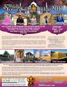 Poster Spiritual India Tour 2017, Journey to the Center of your Self