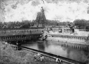 The Shivaganga Tirtha of the Nataraja temple in Chidambaram in the 1800s