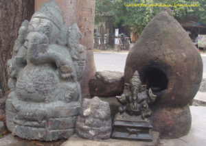 Ganesha in a village temple