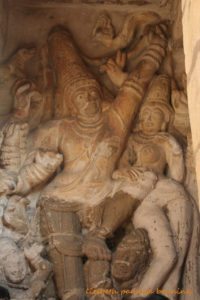 Shiva as Gangadhara in the Kailasanatha temple in Kanchipuram