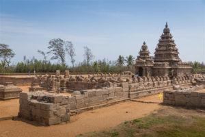 Mahabalipuram Shore Temple, megalithic structure #2