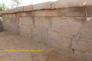 Mahabalipuram Shore Temple megalithic wall and mysterious structure