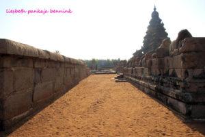 Mahabalipuram Shore Temple prakara wall and megalithic wall