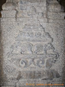 Meru, the Cosmic Mountain carried by tortoise, nagas and elephants.