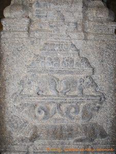 Meru, the Cosmic Mountain carried by tortoise, nagas and elephants.