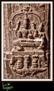 Shiva and Parvati seated on Meru, the cosmic mountain