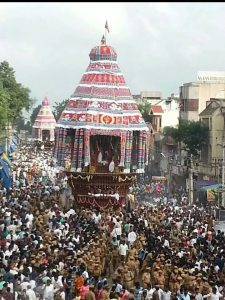 Chidambaram temple Dancing Nataraja's great chariot, ratha, ter
