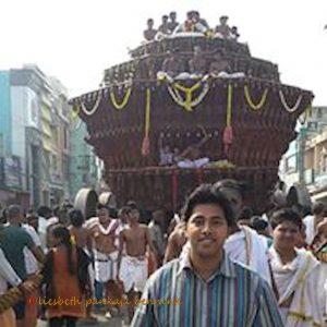 Chidambaram Nataraja temple, the renovated festival chariot.