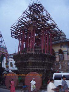 Chidambaram Nataraja temple chariot construction