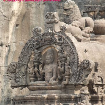 The praṇāla or waterspout of the Kailash temple at Ellora