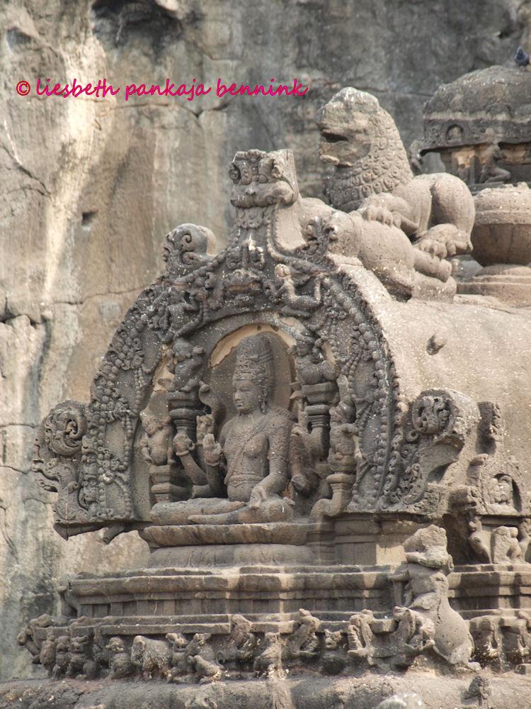 Kailash Temple Praṇāla Or Waterspout Chidambaram Hidden