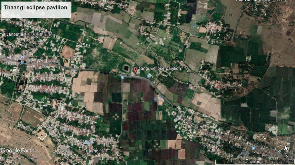 Google Earth location image eclipse pavilion near Thangi