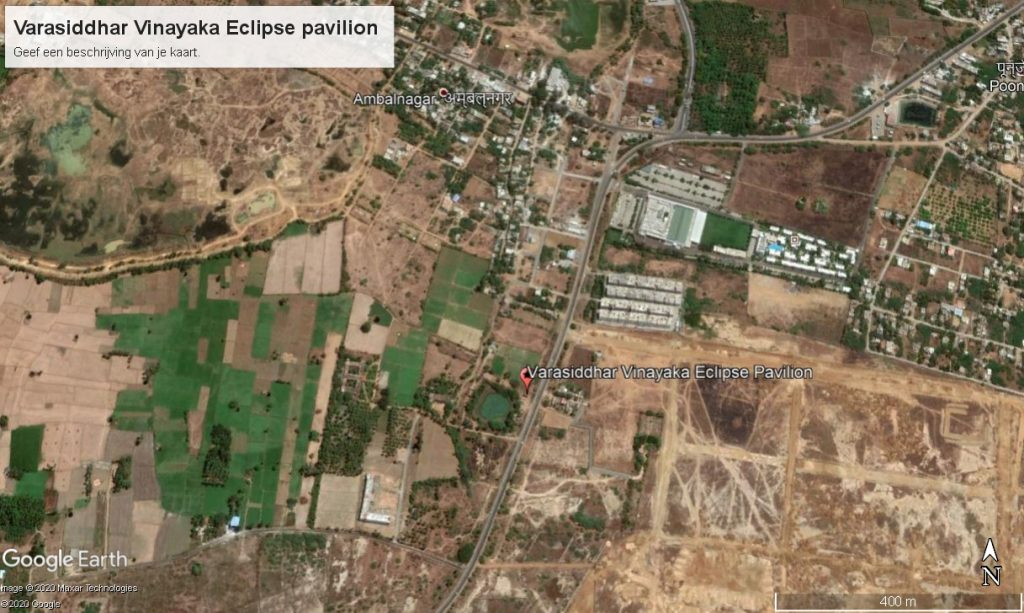 location of eclipse pavilion on the ECR, India