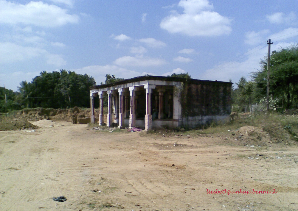 eclipse pavilion at Palur brickworks, north bank Palar river, Kanchipuram district, Chengalpattu Kanchipuram road