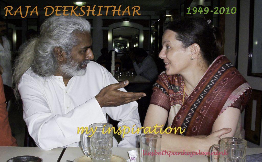 Raja Deekshithar and Liesbeth Pankaja Bennink, happy days