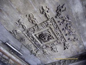 Bhavani, Shri Sangameeshvara, mandapa ceiling with astronomical mandala