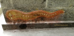 Kanchipuram, Shri Adi Kamakshi, cobra on temple wall